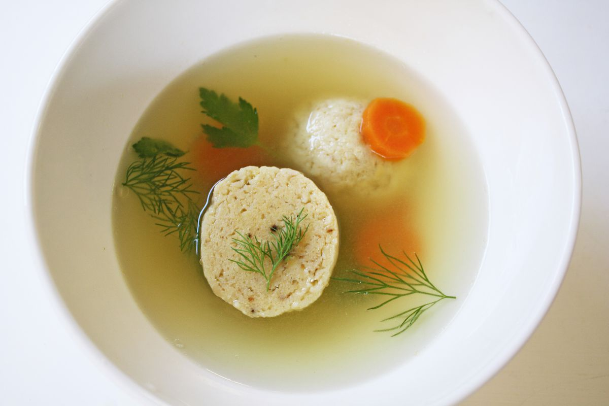 Matzo ball soup from Beetroot