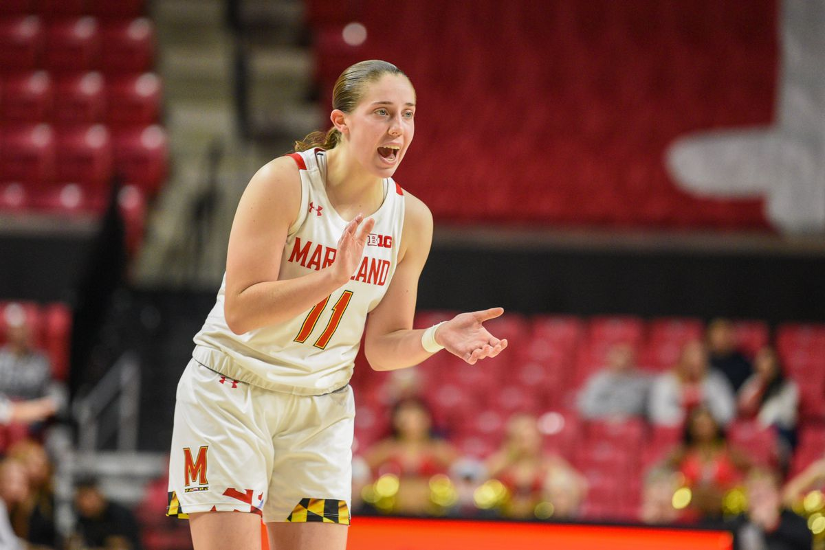 Taylor Mikesell, Maryland women's basketball vs GW