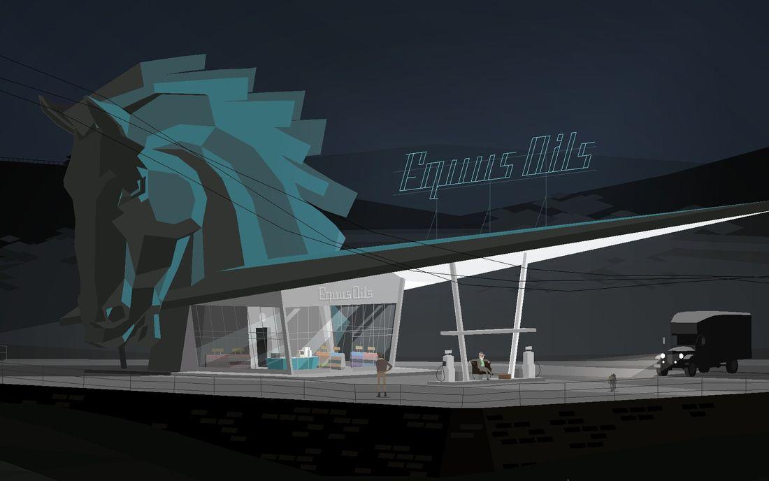 Kentucky Route Zero - Equus Oils gas station