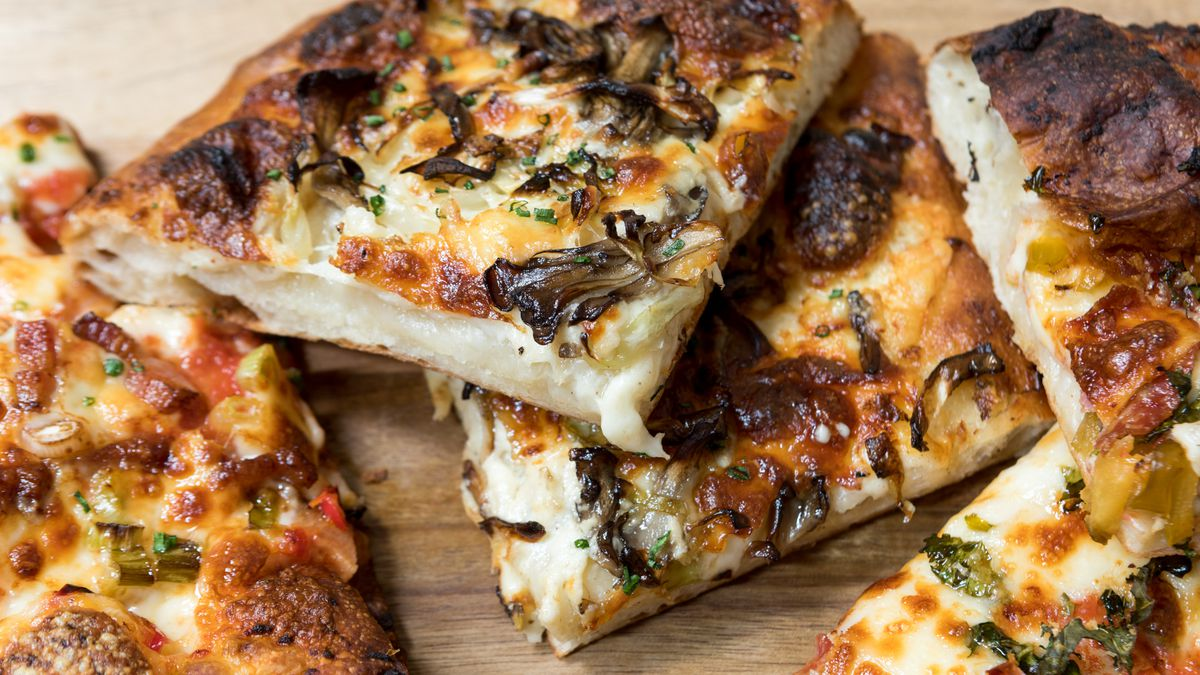 Pizza slices from Itria