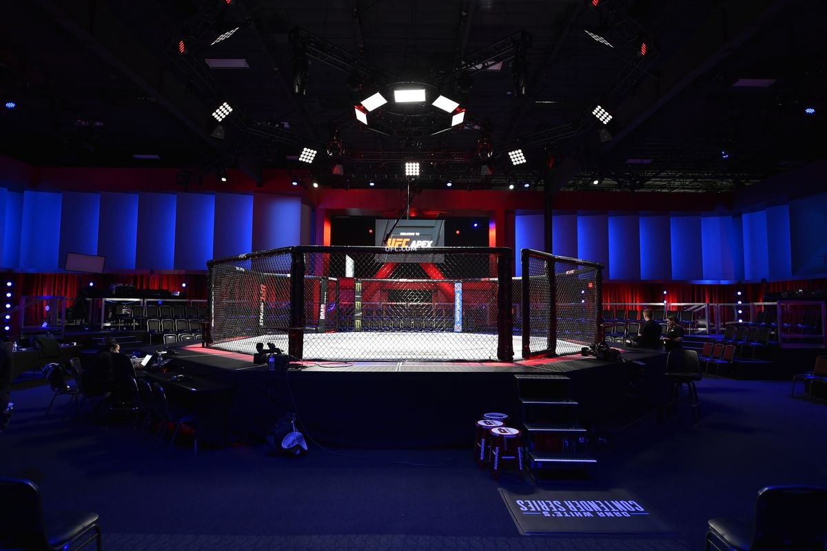 A general view of the Octagon prior to Dana White's Contender Series Week Six at the UFC Apex on July 30, 2019 in Las Vegas, Nevada.