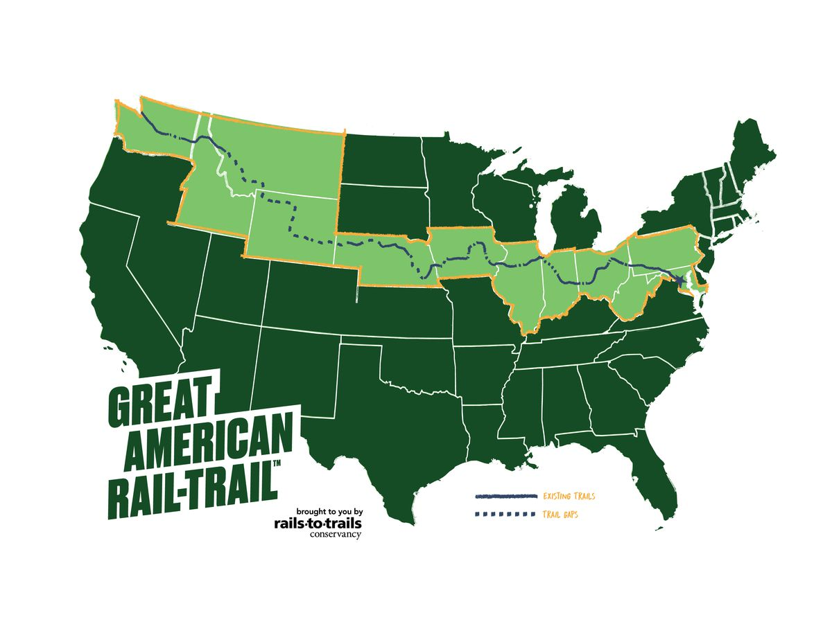 Great American Rail-Trail will let you bike across the ...