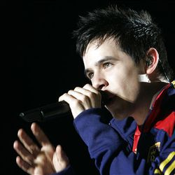David Archuleta performs at Rio Tinto Stadium in Sandy on June 6, 2009, following a Real Salt Lake soccer match.
