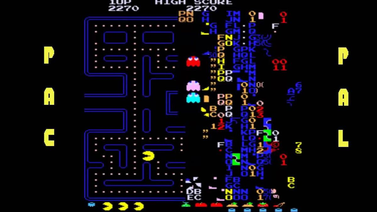 pac-man arcade level 256