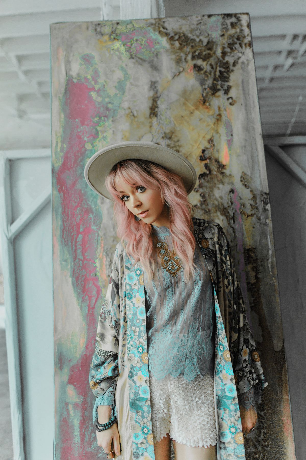 Lindsey Stirling in a promotional photoshoot for her North American tour, Artemis.