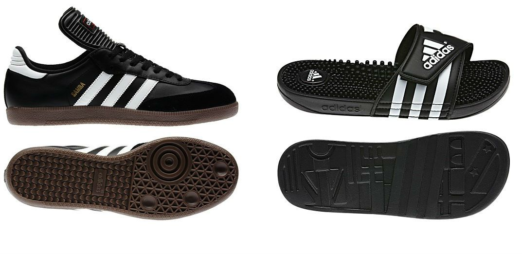 0ebf102eb2c7d Adidas Sambas and shower shoes. Adidas is and has been one of the world s  most popular athletic footwear brands since they outfitted Olympians in  pre-World ...