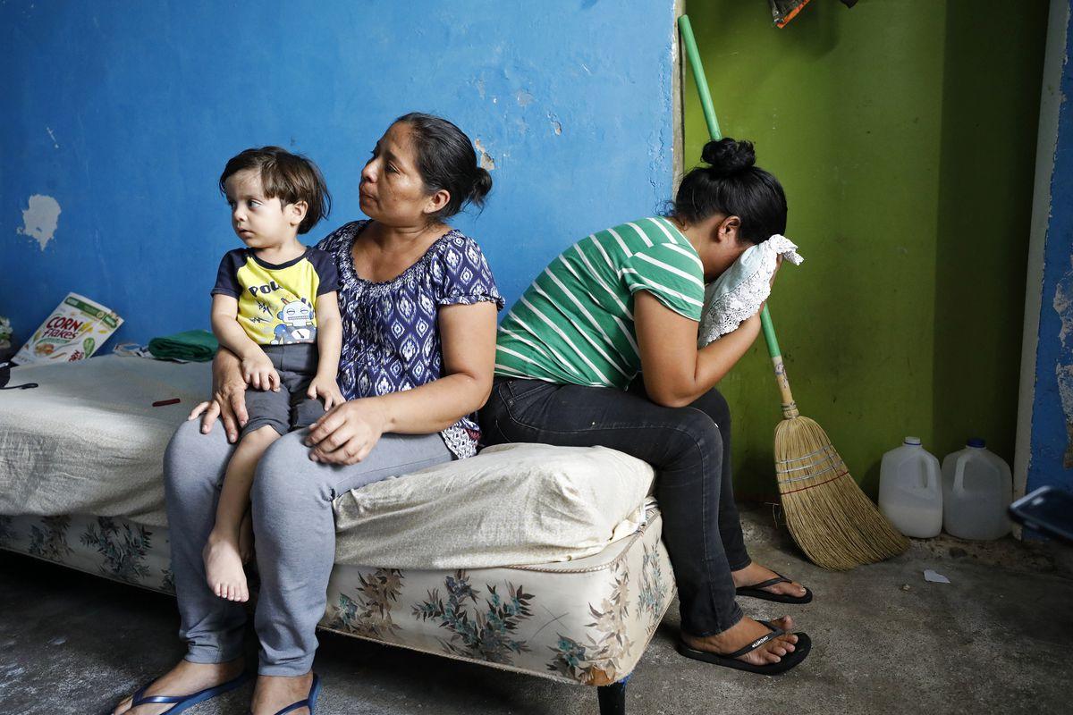 Migrants in the Nuevo Laredo city government shelter, Wednesday, Aug. 21, in Nuevo Laredo, Tamaulipas, Mexico. The migrants were sent back to Mexico under the Migrant Protection Protocols.