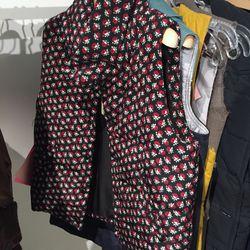 Floral puffer vest, $75