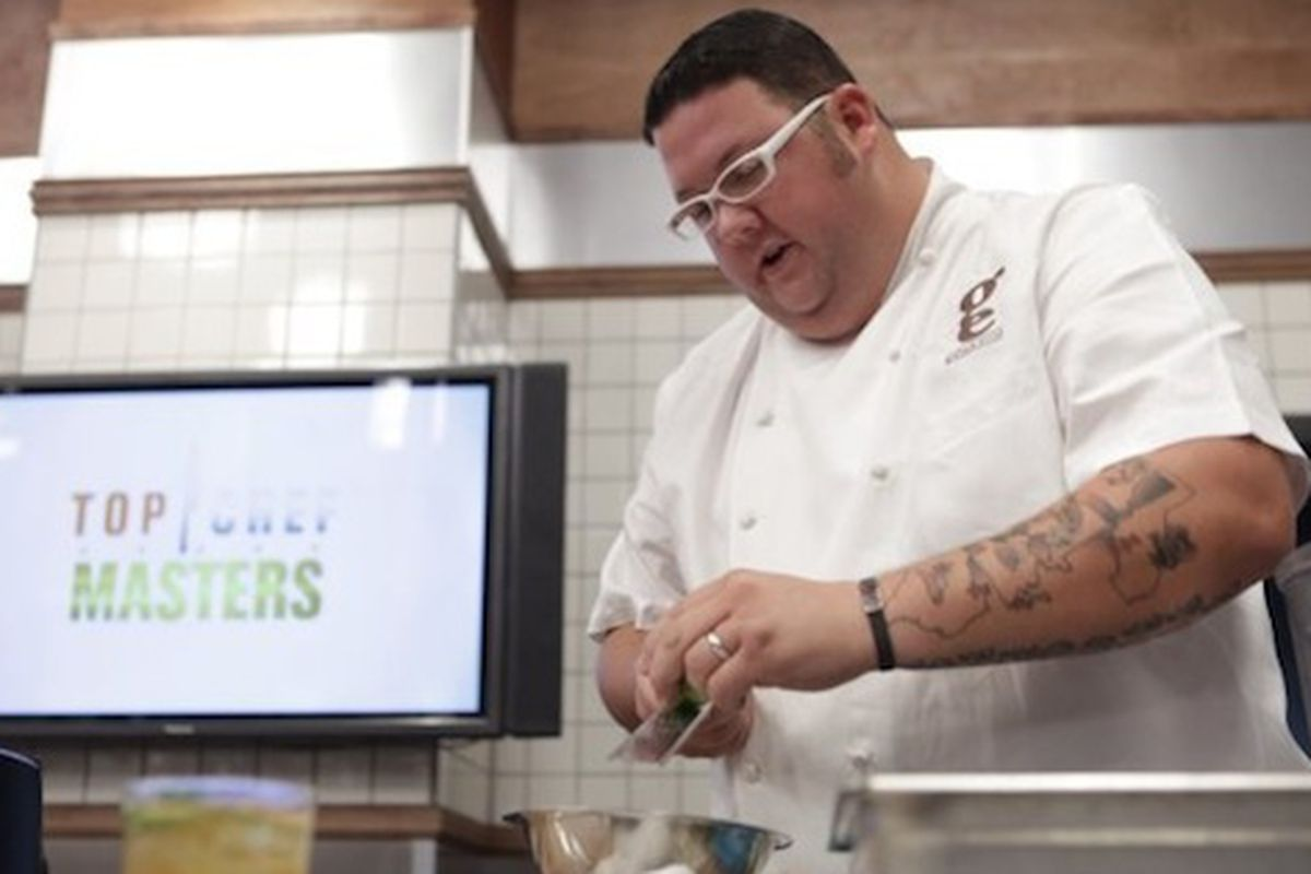 Graham Elliot Bowles competing on Top Chef Masters.