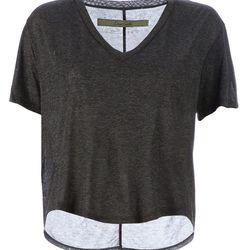 "Enza Costa V-neck cropped T-shirt, $204.02 at <a href=""http://www.farfetch.com/shopping/women/enza-costa-v-neck-cropped-t-shirt-item-10282170.aspx"">Farfetch</a>"