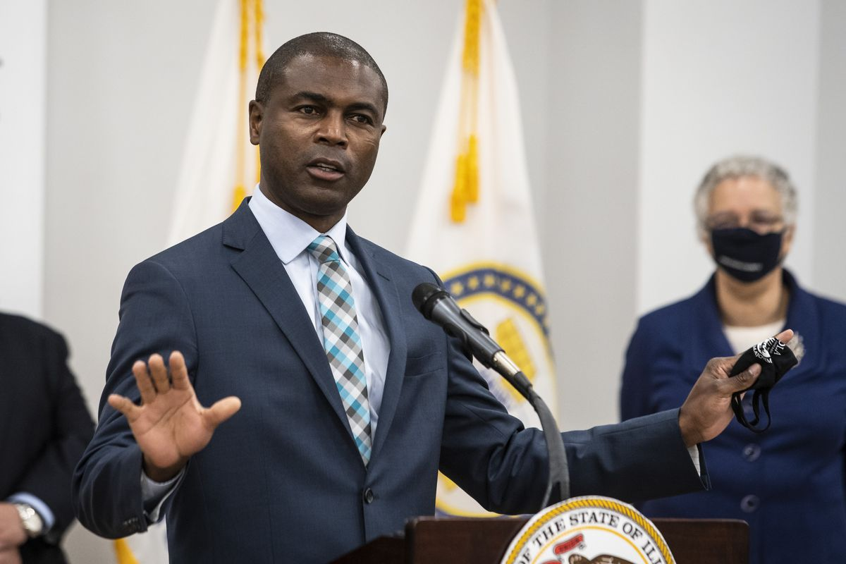 State Rep. La Shawn Ford speaks at a news conference last week.