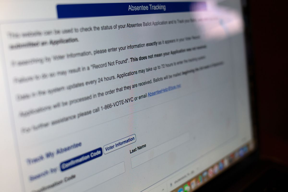 Some New Yorkers are experiencing a potentially-disenfranchising amount of lag using the Board of Elections first-ever online absentee ballot tracker.
