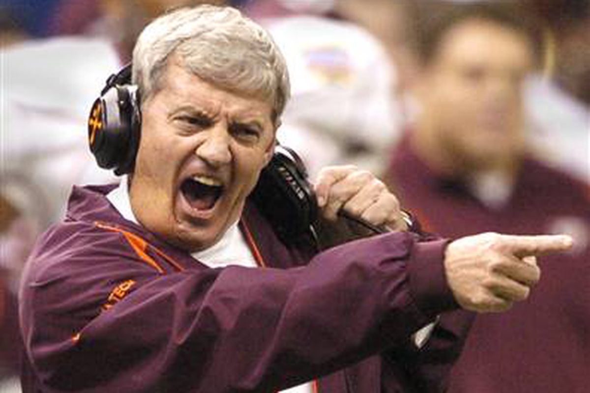 Frank Beamer, seen here taunting substances less hard than himself.