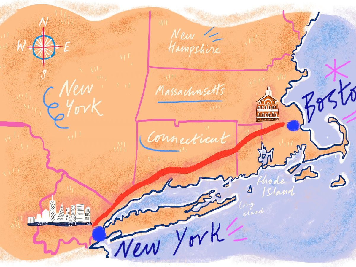 new york and boston map The 10 Best Places To Eat Along I 95 Between Boston And Nyc Eater new york and boston map