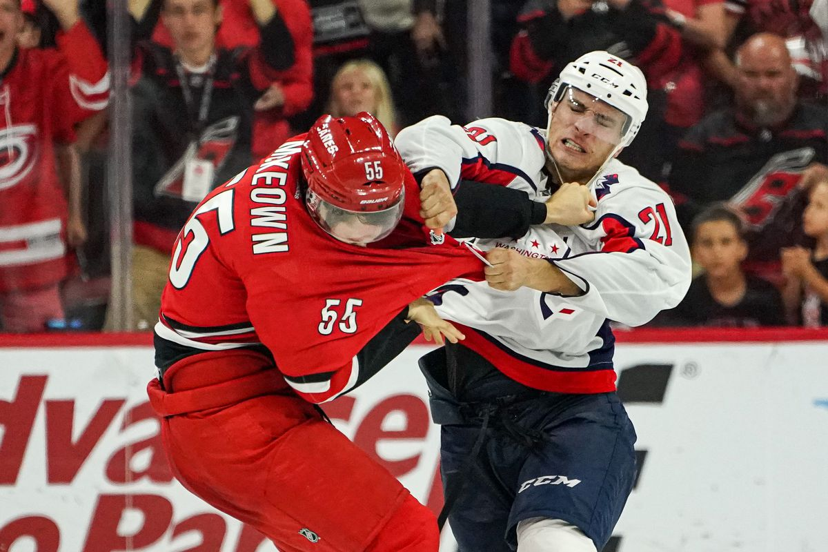 NHL: SEP 29 Preseason - Capitals at Hurricanes