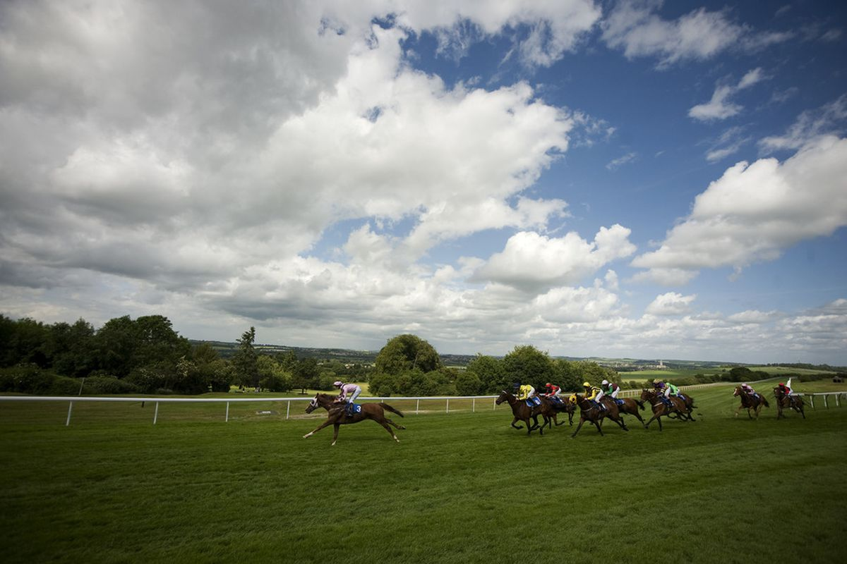 Richard Evans riding April Fool lead all the way to win The Dougland Claiming Stakes at Salisbury racecourse on June 07, 2011 in Epsom, England (Photo by Alan Crowhurst/ Getty Images)