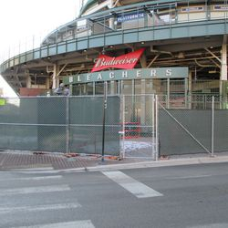 A gate is in place in CF, for use on more active days