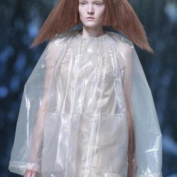 A model wears a creation for U.S fashion designer Rick Owens' ready to wear Spring-Summer 2013, presented in Paris, Thursday, Sept.27, 2012.