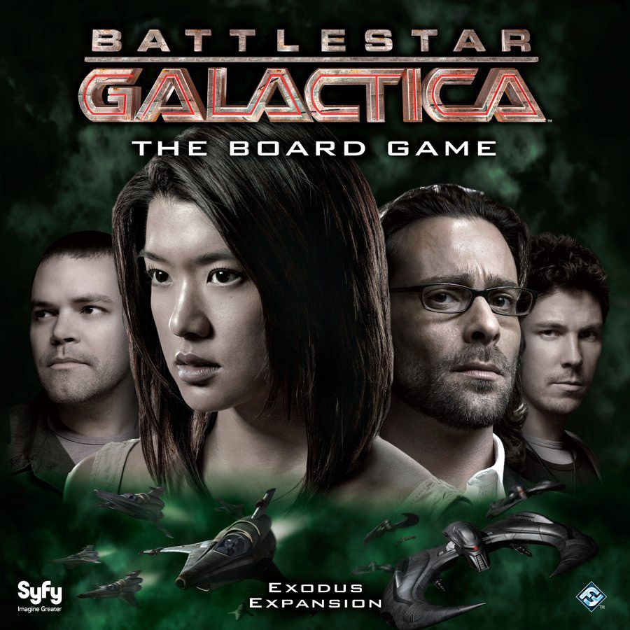 Boomer looks out from the cover art for Battlestar Galactica's vital Exodus expansion.