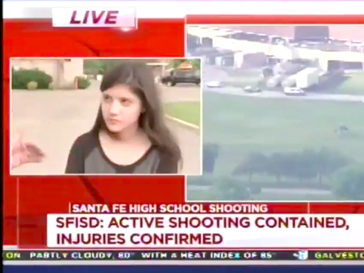 A Santa Fe High School student says she expected to be shot at one day