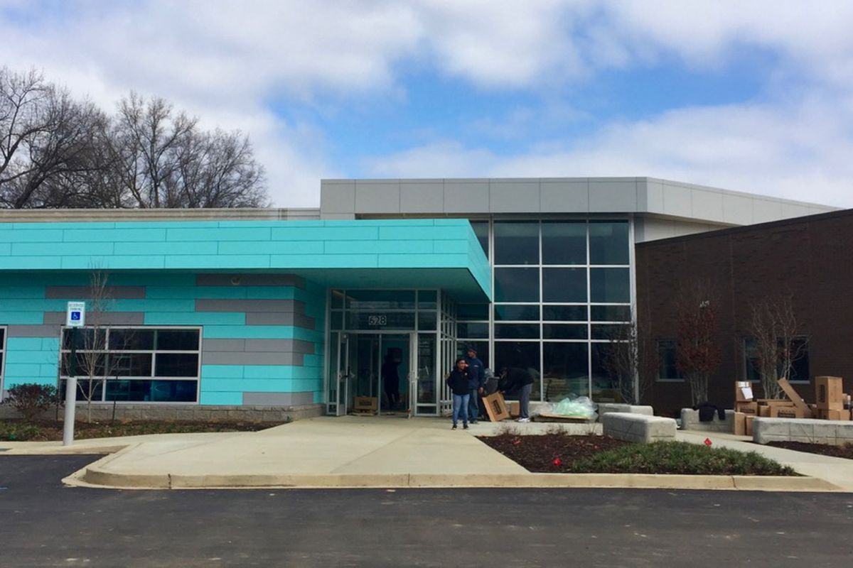 Porter-Leath's Early Childhood Academy readies for its grand opening on Friday. The center features a state-of-the-art preschool and teacher training institute.