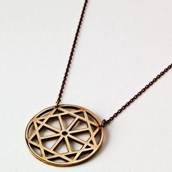 Arch pendant in bronze.