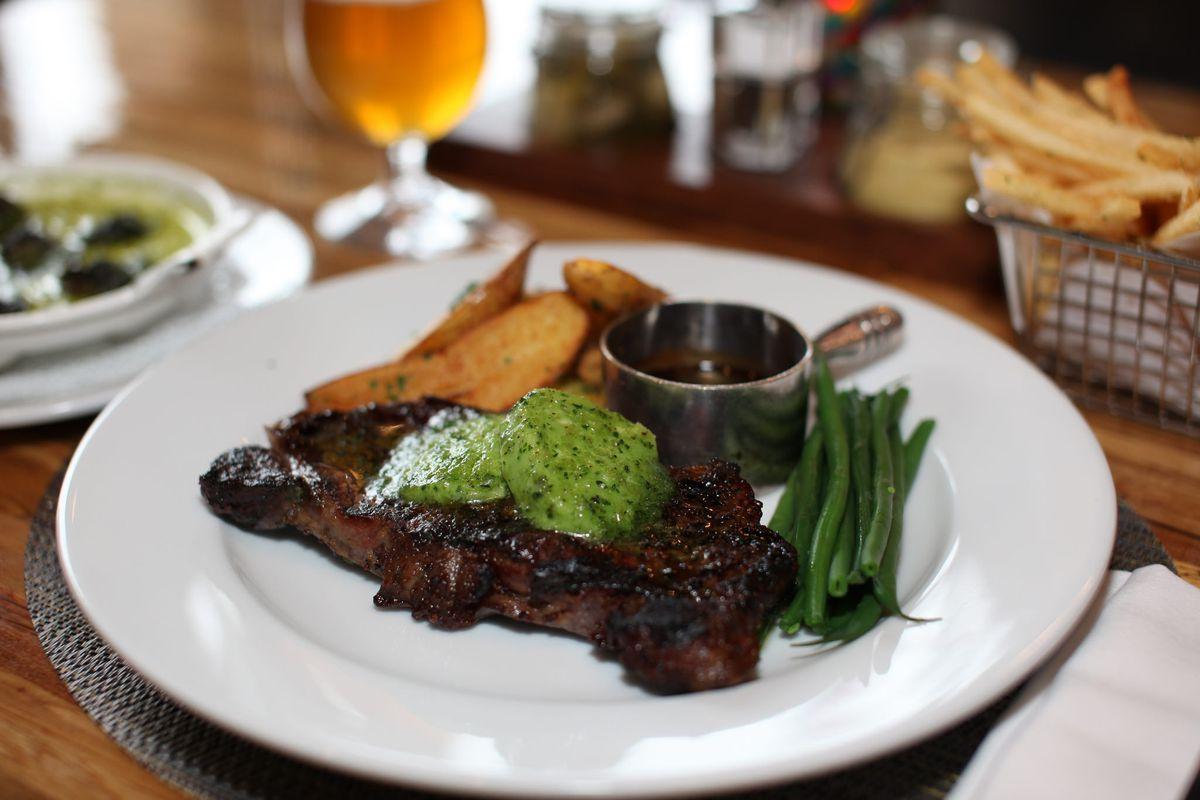 Steak frites at Andre's Bistro & Bar