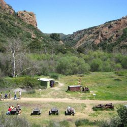 """↑ <b><a href=""""http://www.parks.ca.gov/?page_id=614"""" target=""""_blank"""">Crags Trail, Malibu Creek State Park</a></b>: Although a celeb sighting is certainly possible, the real star of the show is the land itself, which can be recognized on big and small scree"""