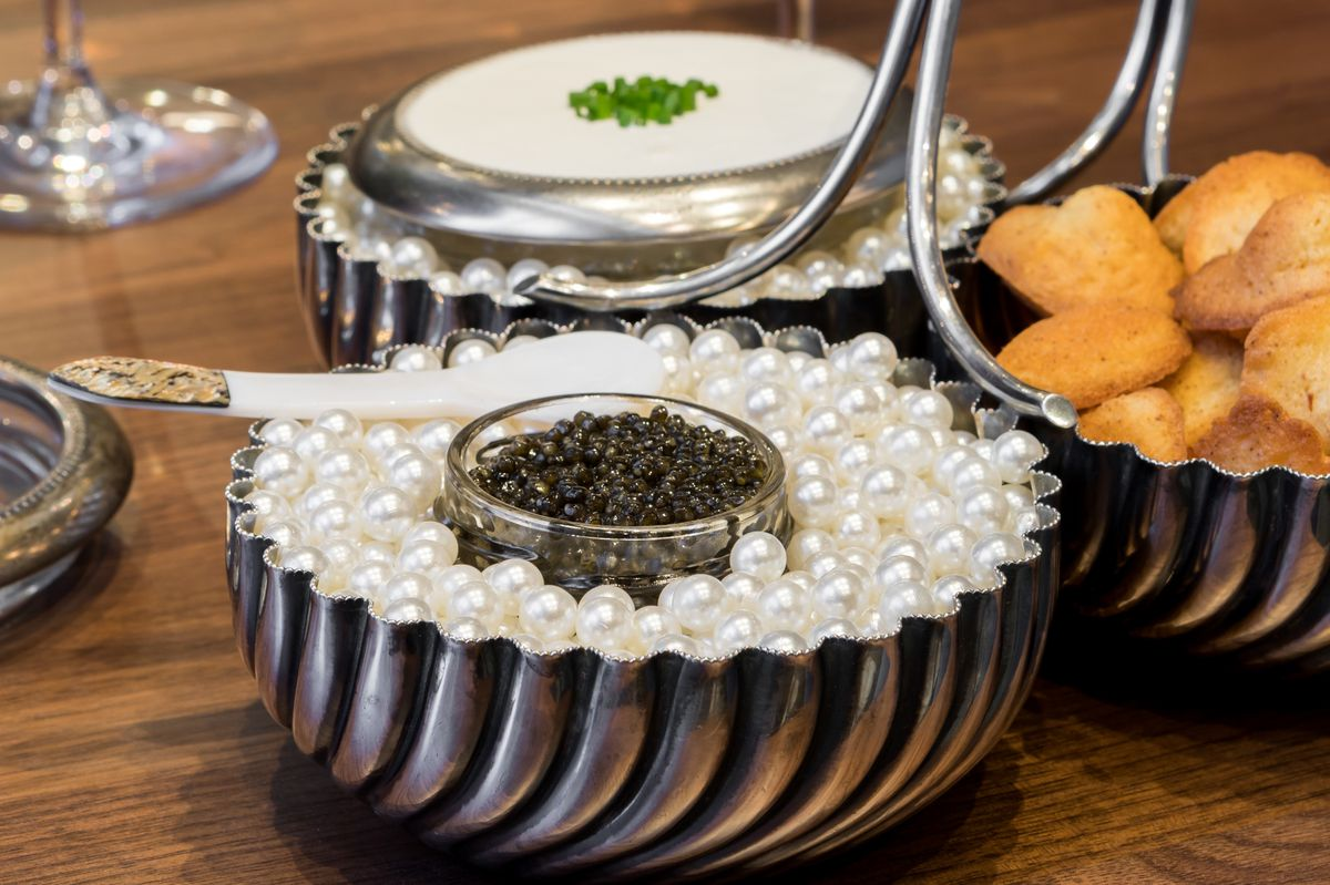 Caviar set at Le Fantastique