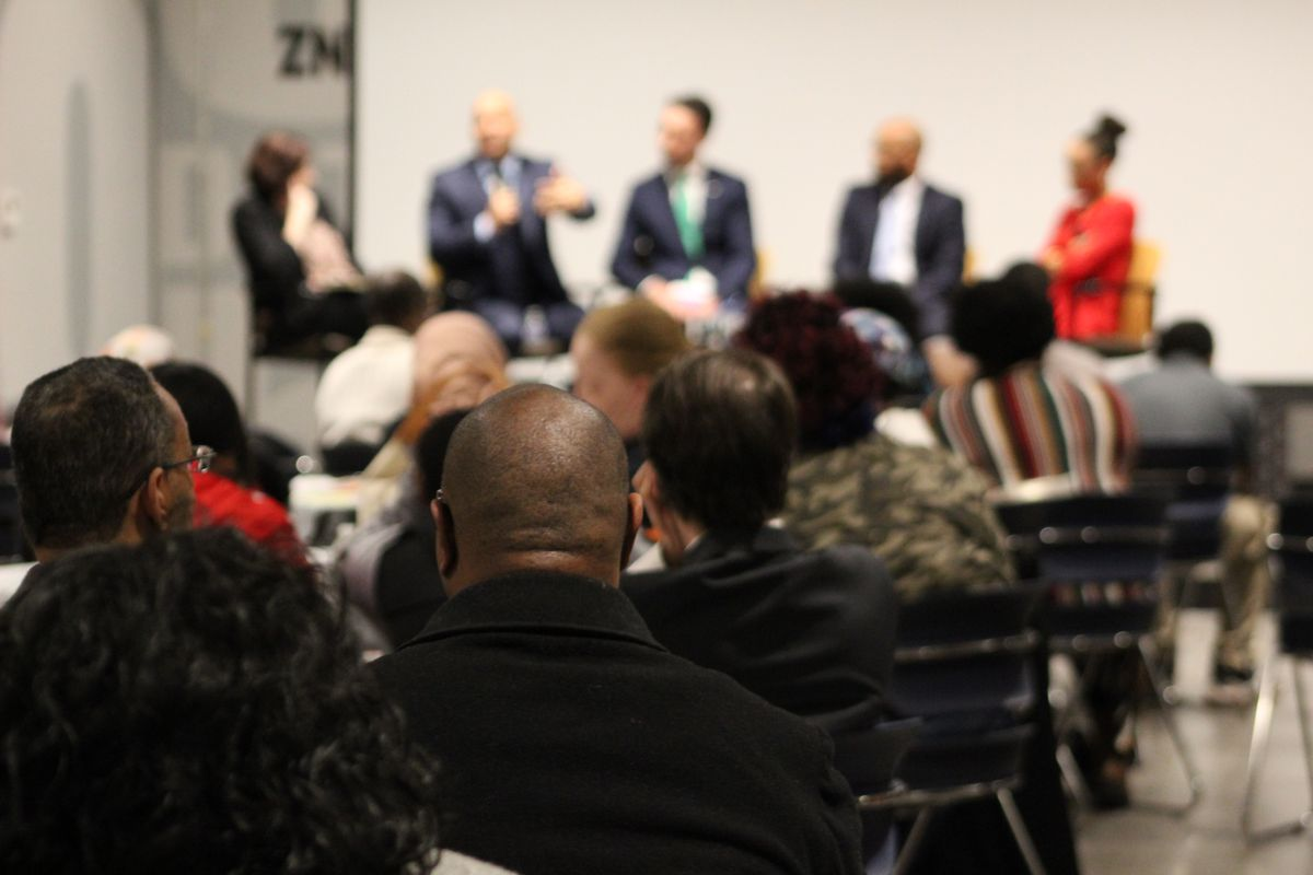 Nearly 250 people attended 482Forward's second annual State of the Schools address at IBEW 58 in Detroit.