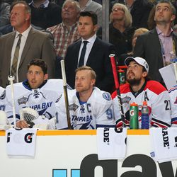 On the bench with Ben Bishop and other Eastern Conference pals