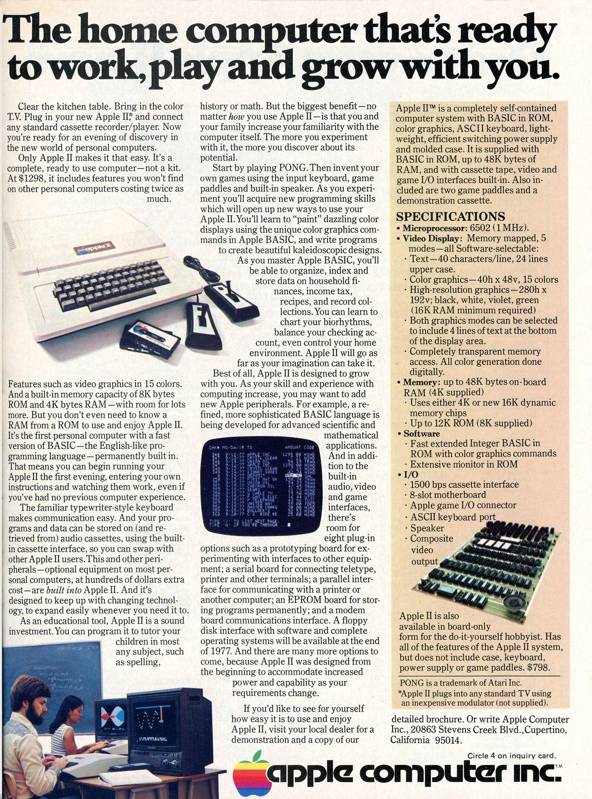 apple II ad from 1977