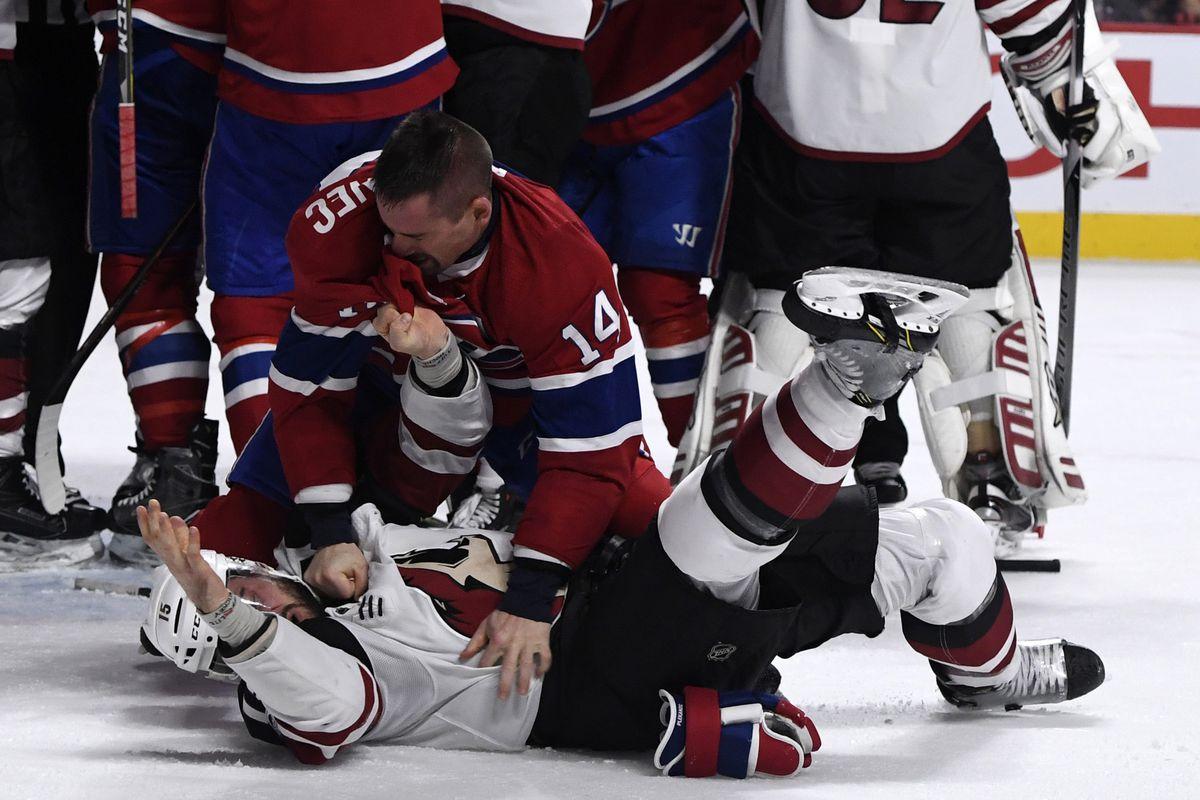 NHL: Arizona Coyotes at Montreal Canadiens