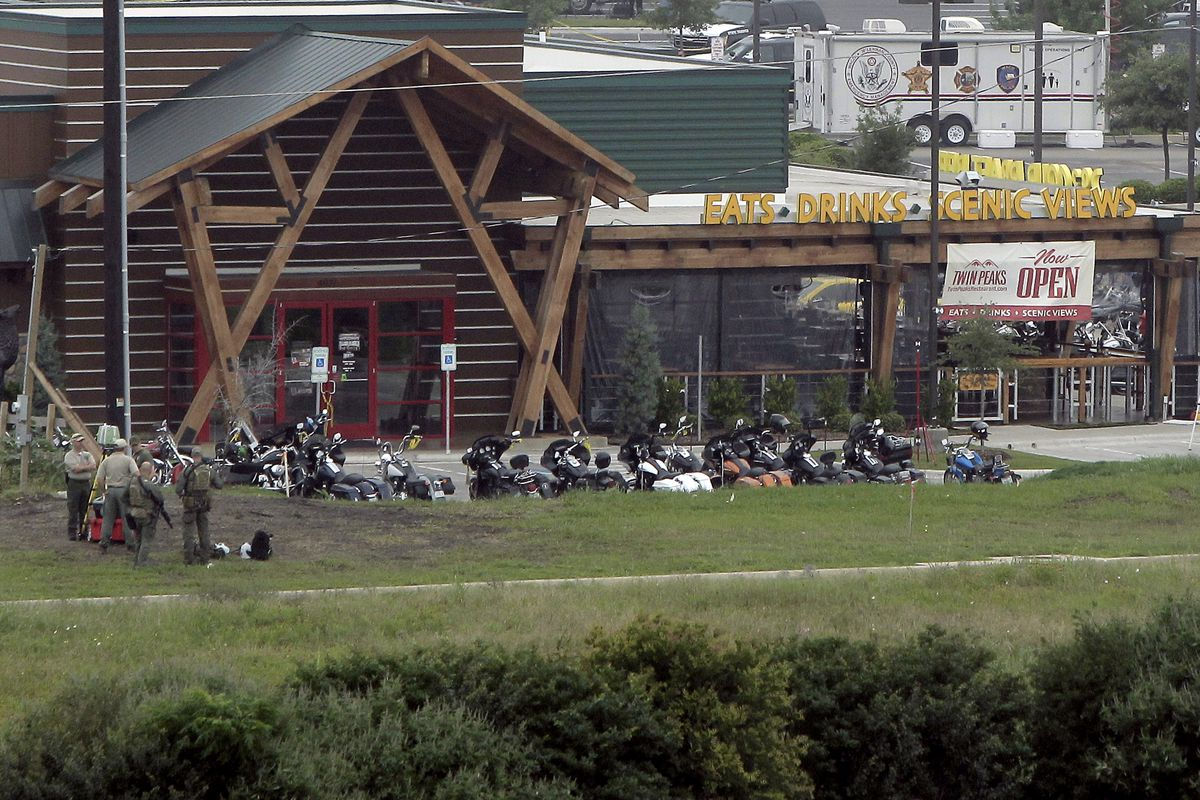 The Twin Peaks restaurant, the scene of the motorcycle gang shootout.