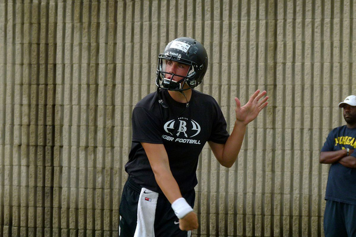 "Class of 2014 QB <strong>Coleman Key</strong> will be an important recruit in the next cycle (Photo Credit: Matt Pargoff, <a href=""http://www.maizeandbluenews.com"" target=""new"">Maize and Blue News</a>)"