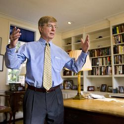 George Will, a Pulitzer-winning American columnist and journalist, recently talked about audiobooks in a Q-and-A session with students after speaking at a BYU campus forum on Tuesday, Oct. 22.