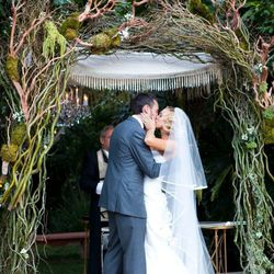 """""""My wedding day was the happiest day of my life, up until the birth of my son. The day was filled with so much love, and so much promise and optimism for the future. You feel like you are floating on a cloud. I wore two dresses, both by Carolina Herrera."""
