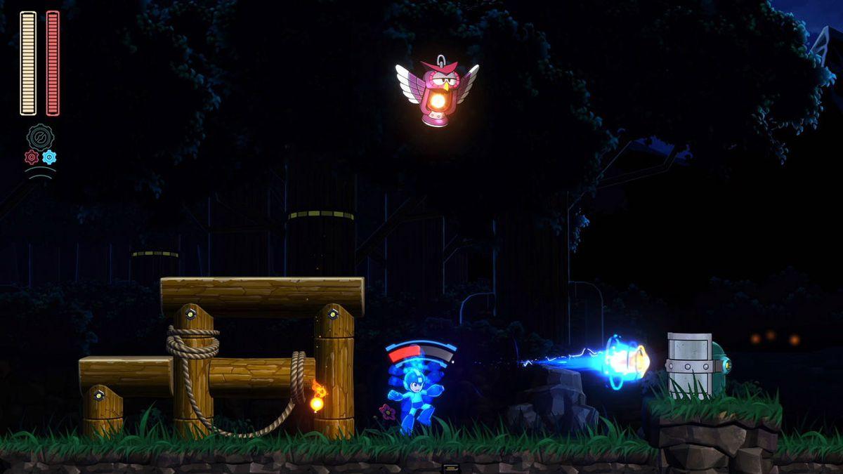 Mega Man 11 charged shot