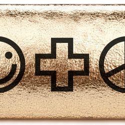 """Smile+Peace long clutch, <a href=""""http://www.jco.la/preorder/smile-peace-long-clutch""""target=""""_blank"""">$88</a>."""