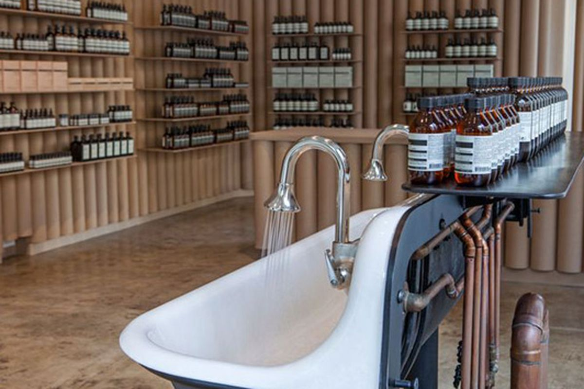 """Image <a href=""""mailto:http://superfuture.com/supernews/los-angeles-aesop-store-opening"""">via</a>"""