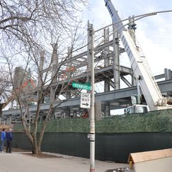 Another view of the left-field bleachers from Kenmore -