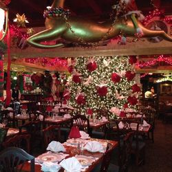 Over at Filomena Ristorante in Georgetown, Christmas decorations are also a big deal. Staff at the restaurant guess that there are least 10,000 lights on the Christmas tree and countless ornaments.
