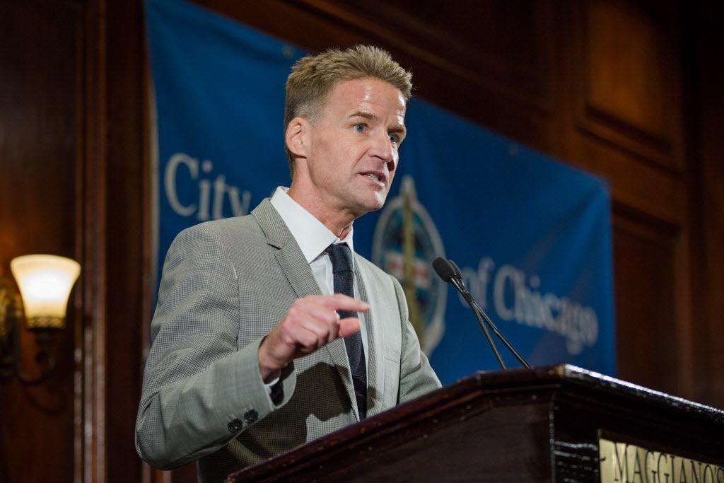 U.S. Atty. Zachary Fardon speaking to the City Club of Chicago last month.   Santiago Covarrubias / Sun-Times