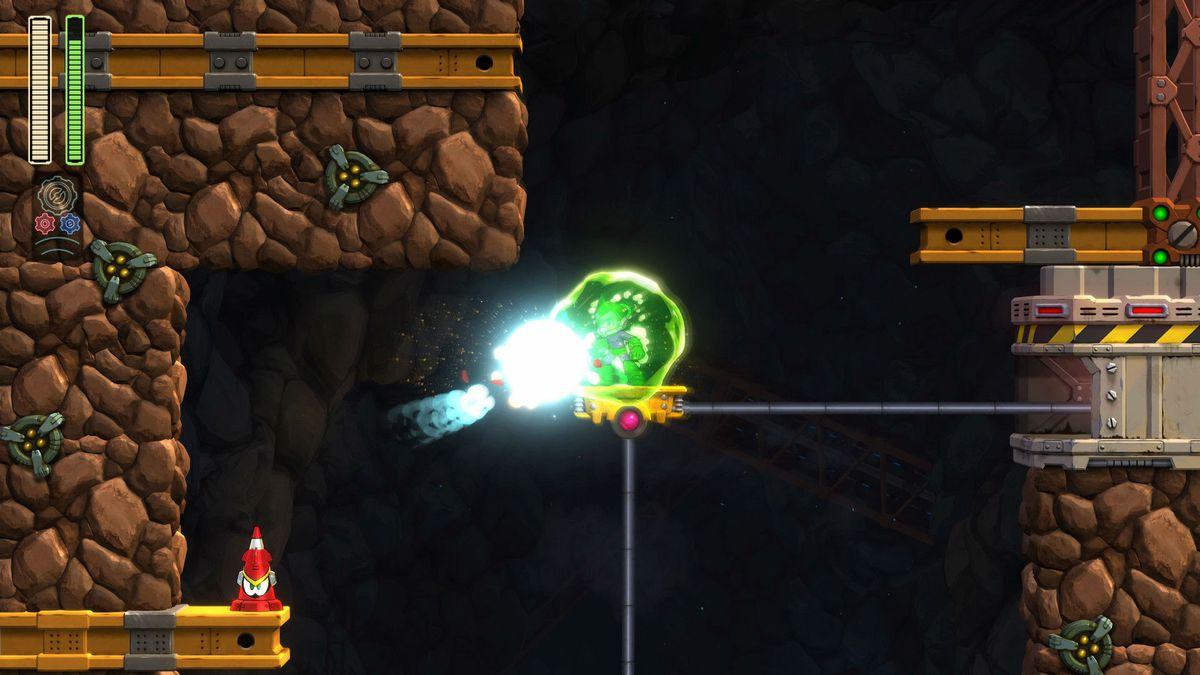 Mega Man 11 Acid Barrier (Acid Man)