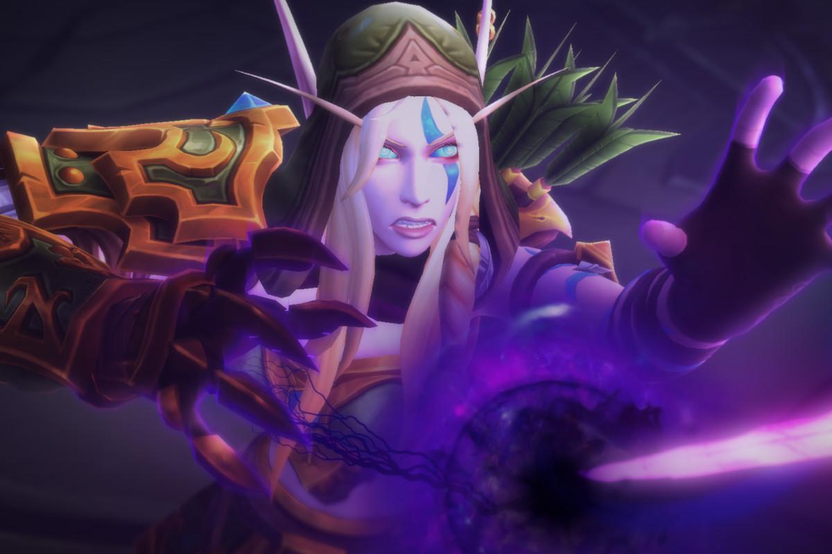 World of Warcraft - Alleria Windrunner, a high elf, channels the Void