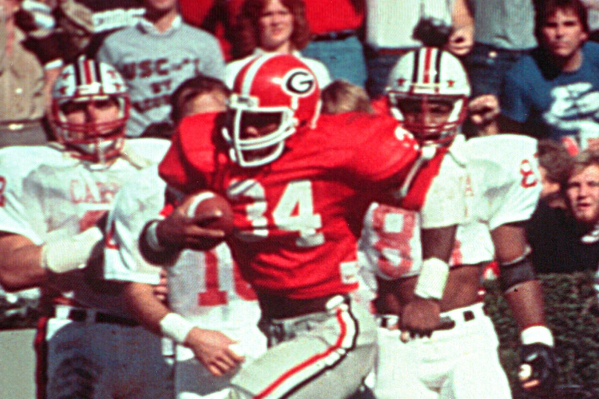 Game Of The Year Of The Day 1980 Georgia 13 South Carolina 10