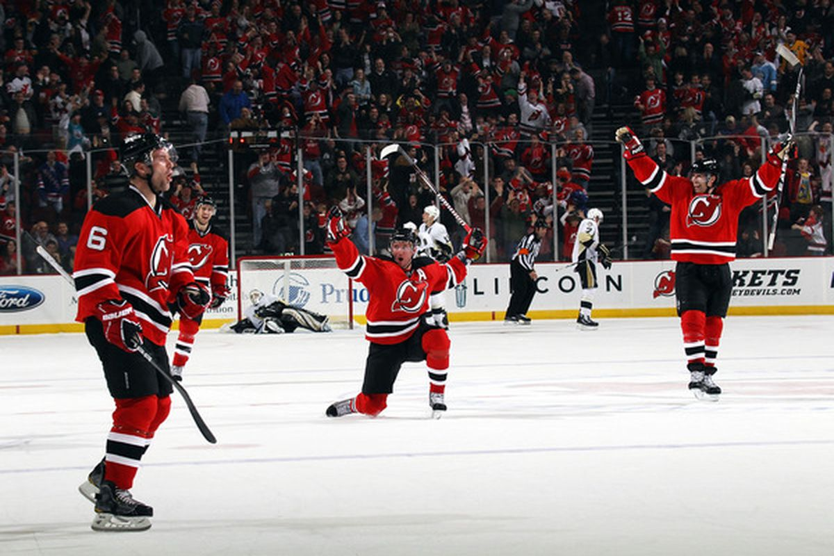 Triumph in Overtime (2011 by I. Kovalchuk) (Photo by Bruce Bennett/Getty Images)