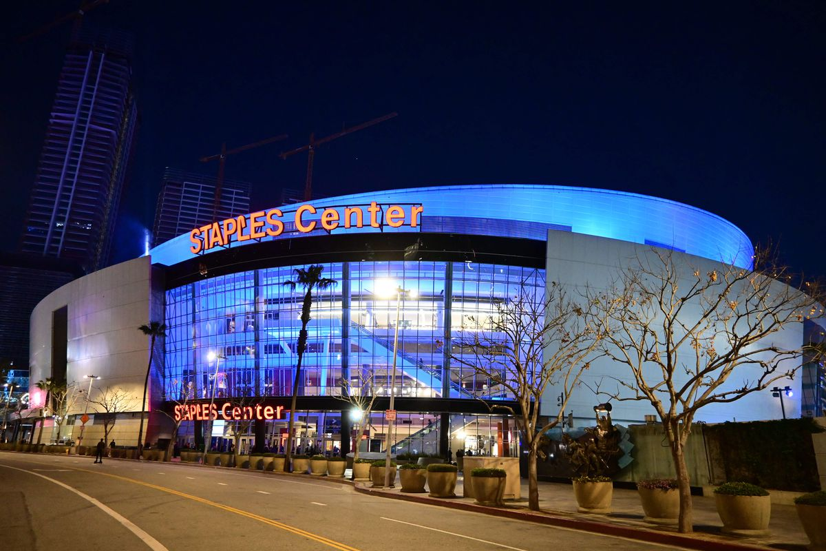 Feb 20, 2020; Los Angeles, California, USA; General overall view of the Staples Center before the NHL game between the Los Angeles Kings and the Florida Panthers.