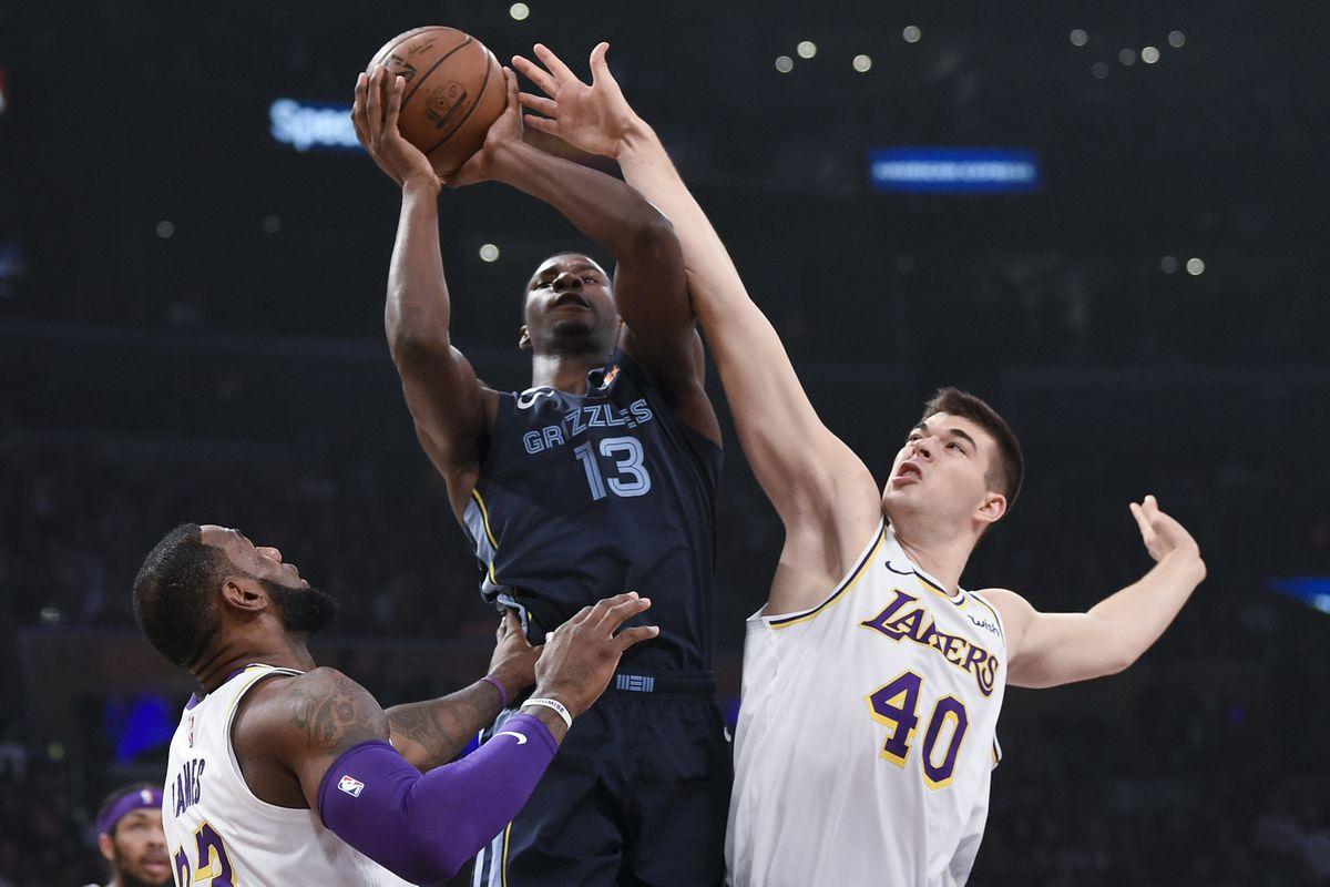 Grizzlies Drop Lakers 107 99