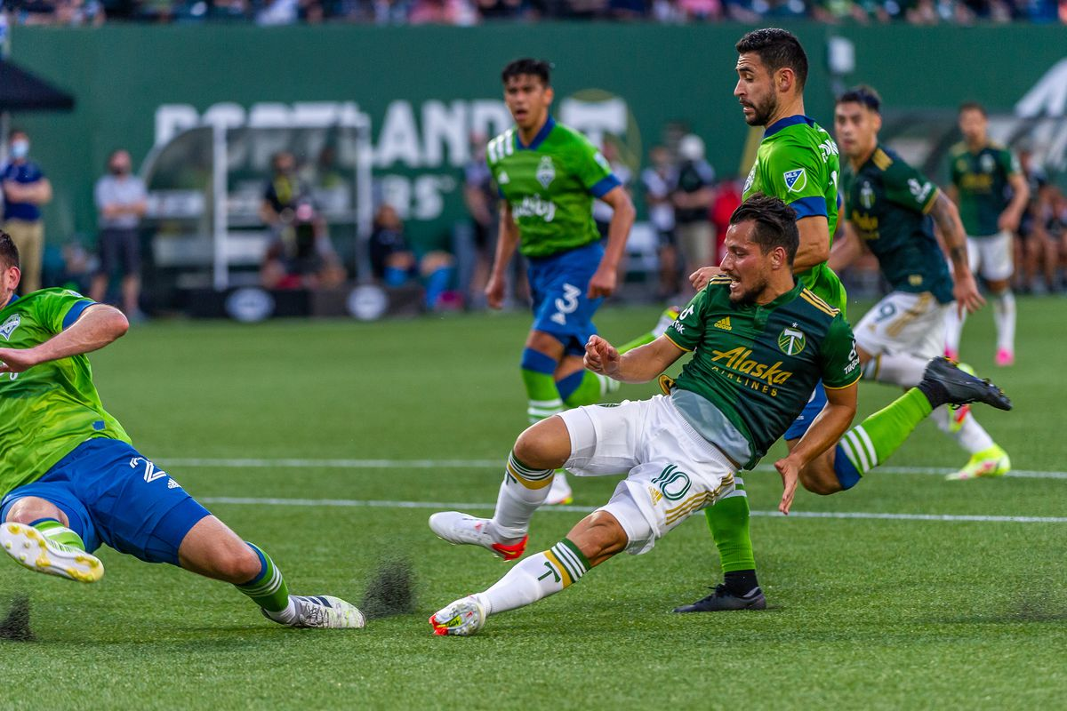 SOCCER: AUG 15 MLS - Seattle Sounders at Portland Timbers